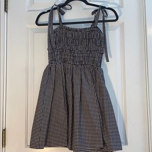 Black and white checkered print forever 21 dress